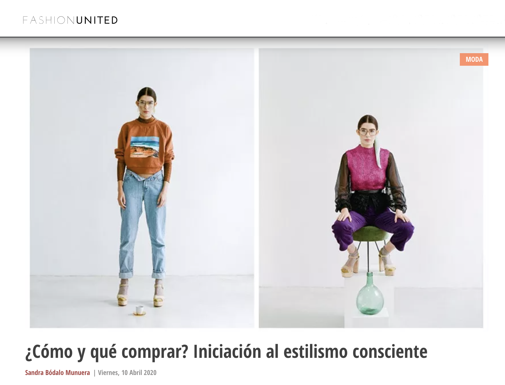 FashionUnited Upcyclick EstilismoConsciente